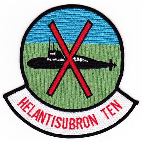 HS-10 Anti-Submarine Warfare Aviation Squadron ASW Squadron Patch HELANTISUBRON TEN