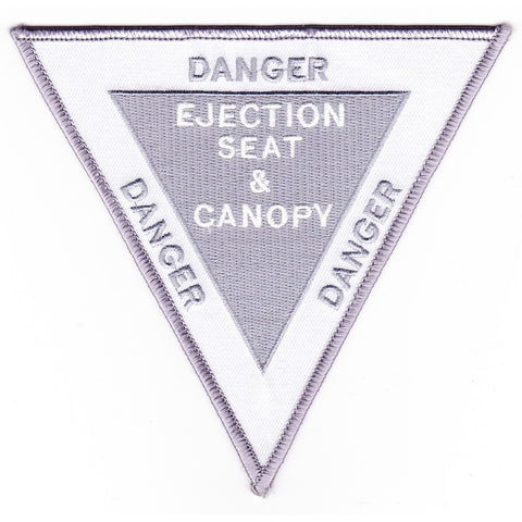 Ejection Seat & Canopy Danger Warning Patch