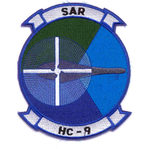 HC-9 Helicopter Combat Support Squadron Military Patch SAR Search and Rescue