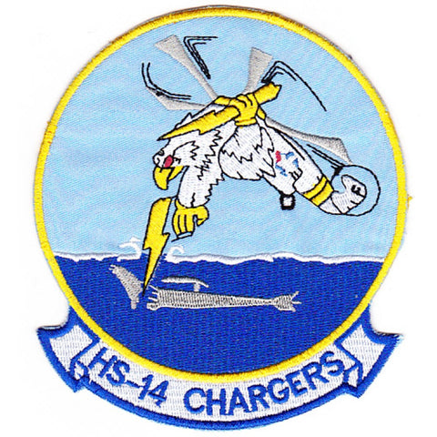 HS-14 Anti-Submarine Wafare Aviation Military patch CHARGERS
