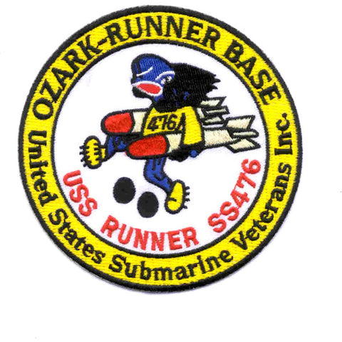 US Submarine Veterans, Inc. USS Ozark-Runner Base SS 476 Springfield Missouri Patch