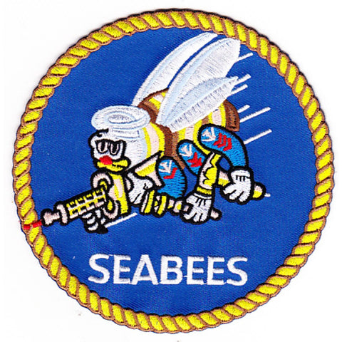 NMCB Naval Mobile Construction Battalion Seabees Patch