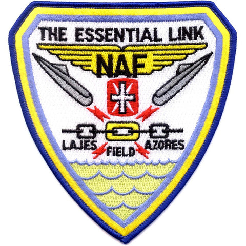 NAF Lajes Azores Portugal Naval Air Facility Patch - The Essential Link