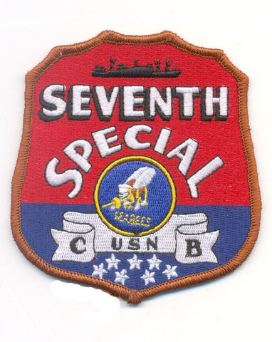 NCB 7th SPECIAL SEABEE Battalion WWII Patch