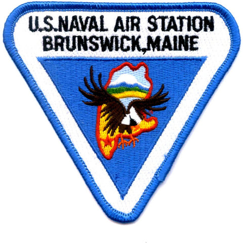 NAS Brunswick MAINE Naval Air Station Patch