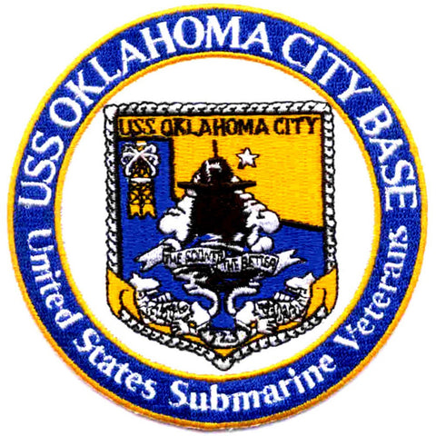 US Submarine Veterans, Inc. USS Oklahoma City Base Oklahoma City OK Patch
