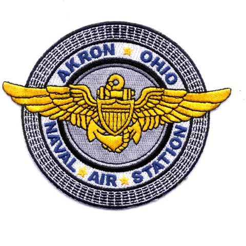 NAS Akron Ohio Naval Air Station Patch