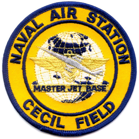 NAS Cecil Field Jacksonville Florida Naval Air Station Patch Master Jet Base