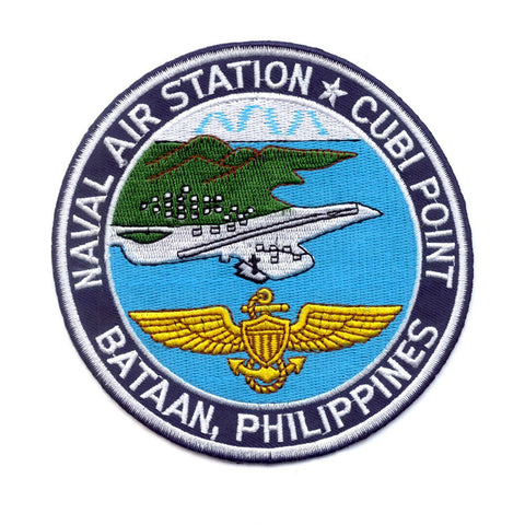 NAS Cubi Point Bataan Philippines Naval Air Station Patch - Version B
