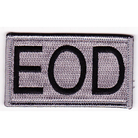 EOD - Explosive Ordnance Disposal Tab Velcro Patch - Silver