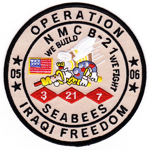 NMCB 21st Mobile Construction Battalion Patch Operation Iraqi Freedom