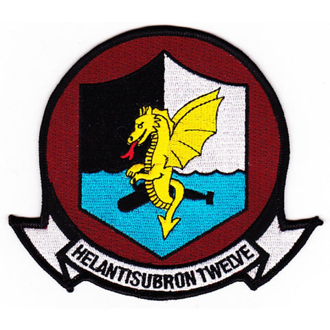 HS-12 Anti-Submarine Warfare Aviation Squadron Military Patch HELANTISUBRON WYVERNS