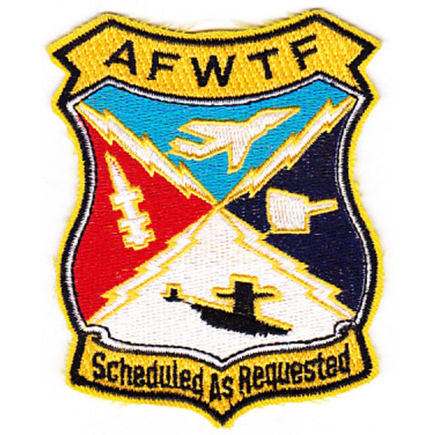 AFWTF Atlantic Fleet Weapons Training Facility Patch - Scheduled as Requested