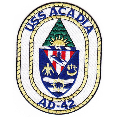 AD-42 USS Acadia Destroyer Tender Ship Crest Patch