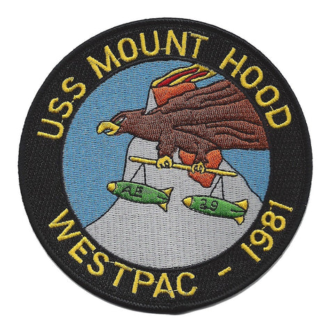AE-29 USS MOUNT HOOD Ammunitions Ship Patch - WESTPAC - 1981