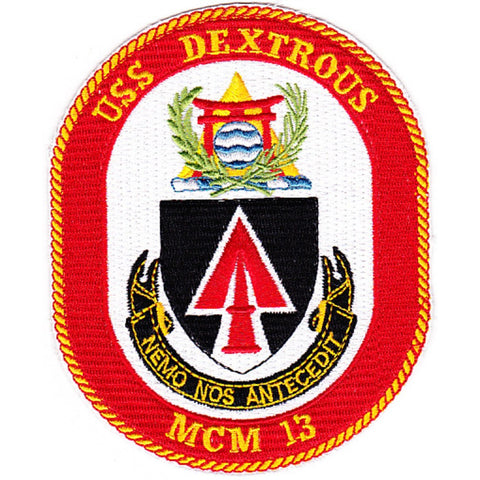 MCM-13 USS Dextrous Mine Countermeasures Ship Patch
