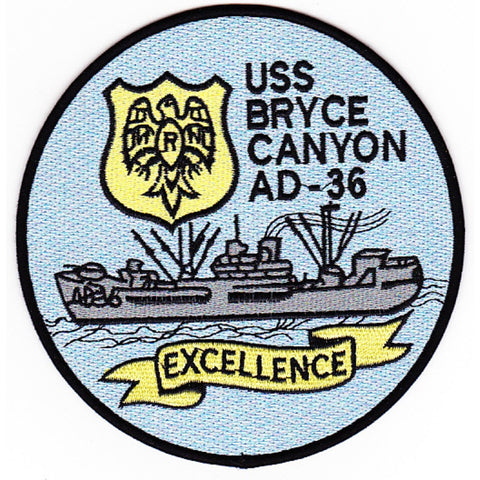AD-36 USS Bryce Canyon Patch - A Version