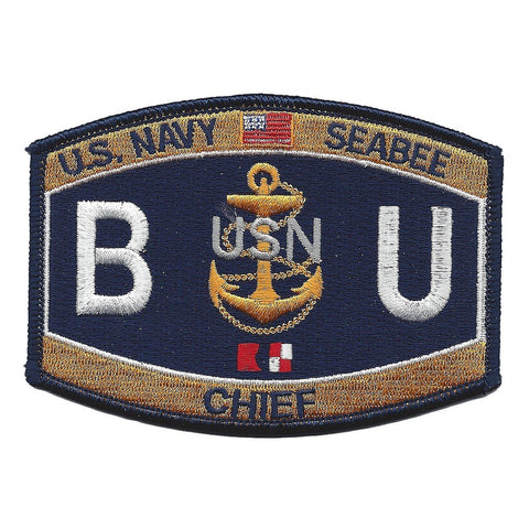 BUC - Chief Construction Builder Navy Seabee Rating Patch