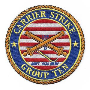 CSG 10 Carrier Strike Group Ten Military Patch DON'T TREAD ON ME