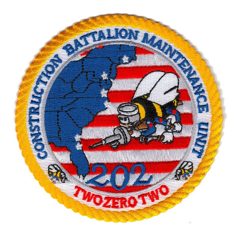 CBMU 202nd Naval Construction Battalion Maintenance Unit Patch