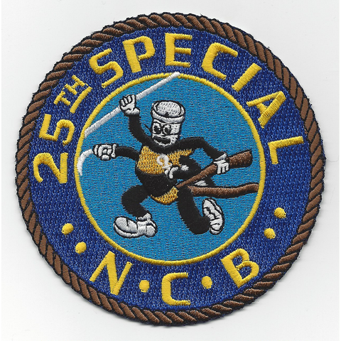 NCB 25th Special Naval Construction Battalion WWII Patch