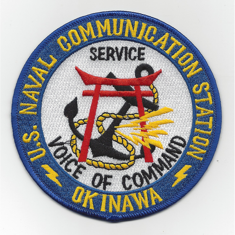 NCS Okinawa Japan Naval Communication Station Patch Service Voice of Command