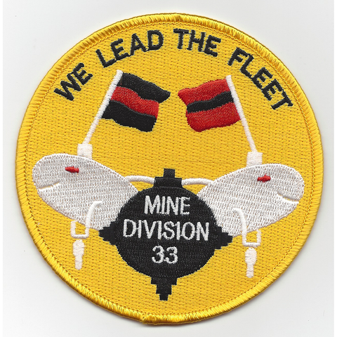 MINDIV 33rd Mine Division Patch