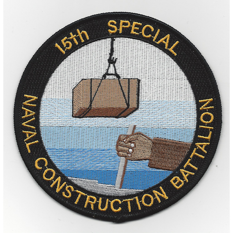 NCB 15th Special Naval Construction Battalion WWII Patch