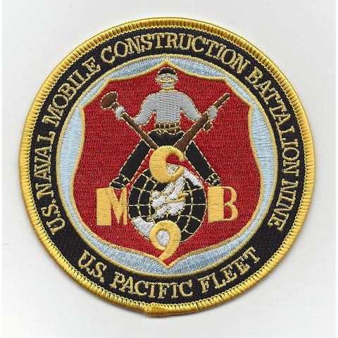 NMCB 9th Naval Mobile Construction Battalion Patch - US Pacific Fleet
