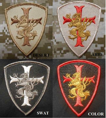 Crusader Lion Cross Templar Shield Patch