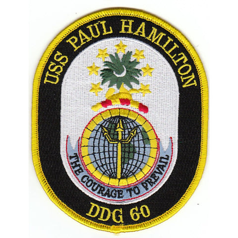DDG-60 USS Paul Hamilton Guided Missile Destroyer Ship Crest Patch
