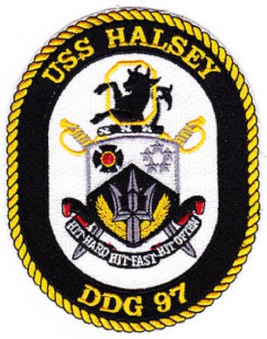 DDG-97 USS Halsey Guided Missile Destroyer Ship Crest Patch