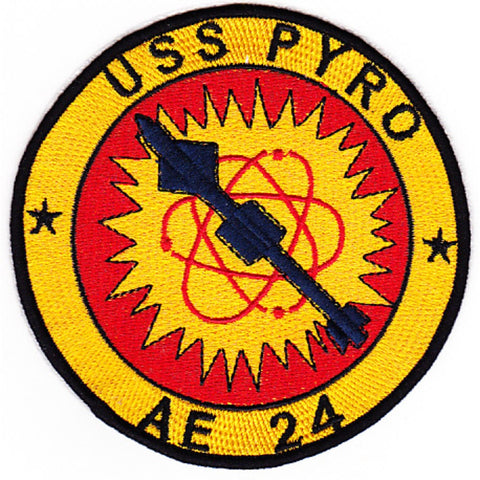 AE-24 USS Pyro Ammunitions Ship Patch