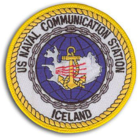 NCS Iceland Naval Communication Station Patch