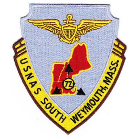 NAS South Weymouth Massachusetts Naval Air Station Patch
