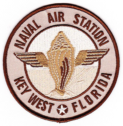 NAS Key West Florida Naval Air Station Patch - Desert