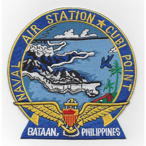 NAS Cubi Point Bataan Philippines Naval Air Station Patch - Version A