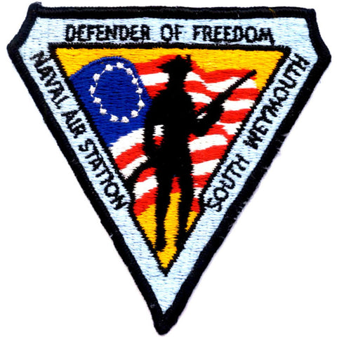 NAS South Weymouth MA Naval Air Station Patch - Defender of Freedom