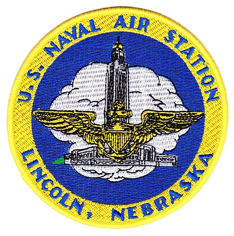 NAS Lincoln Nebraska Naval Air Station Patch