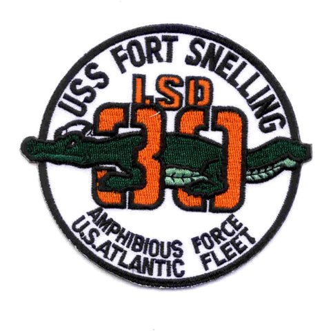 LSD-30 USS Fort Snelling Dock Landing Ship Patch