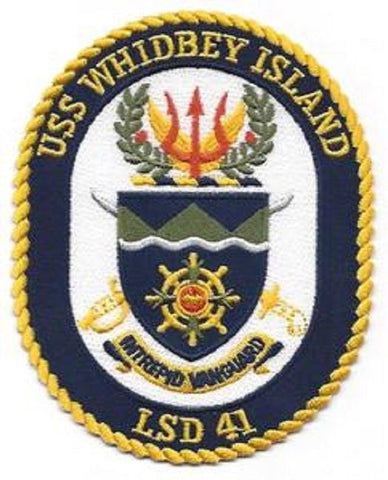 LSD-41 USS Whidbey Island Dock Landing Ship Crest Patch