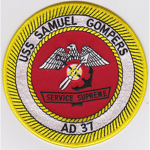 AD-37 USS Samuel Gompers Destroyer Tender Patch