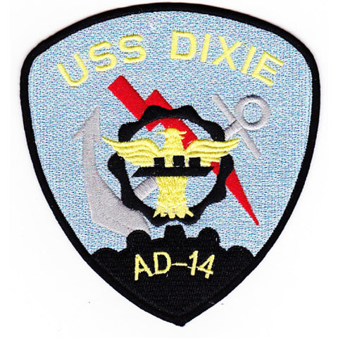 AD-14 USS Dixie Destroyer Tender Ship Patch