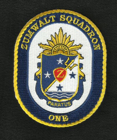 Zumwalt Squadron ONE Crest Patch PARATUS