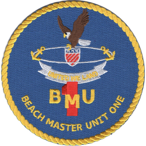 BMU 1 - Beachmaster Unit One Patch United We Land