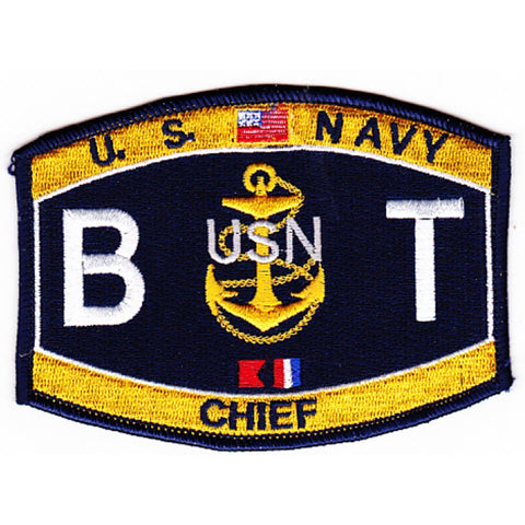 BT CHIEF Boiler Technician Navy Rating PATCH