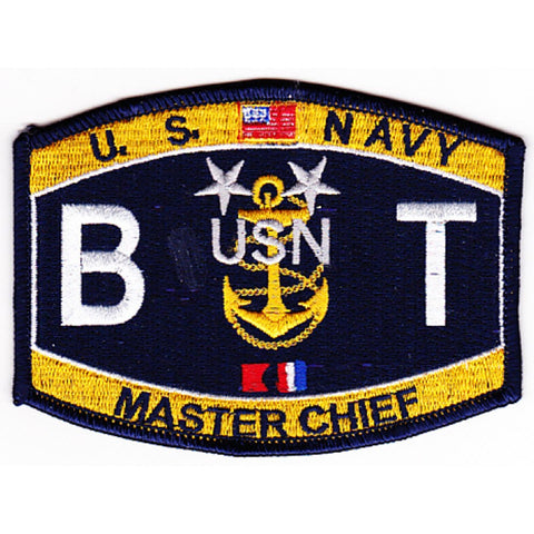 BT Master Cheif Boiler Technician Navy Rating Patch - BTCM