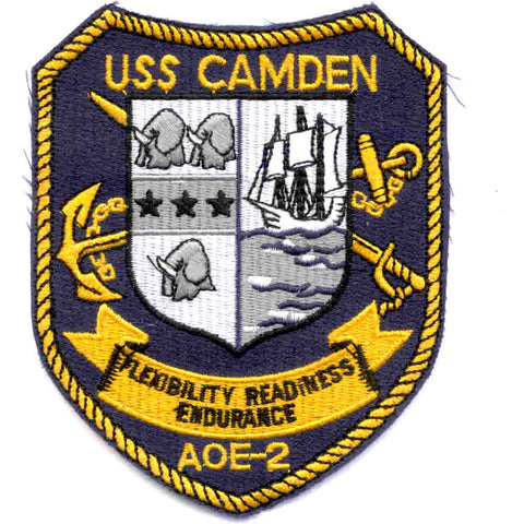 AOE-2 USS Camden Fast Attack Combat Ship Patch