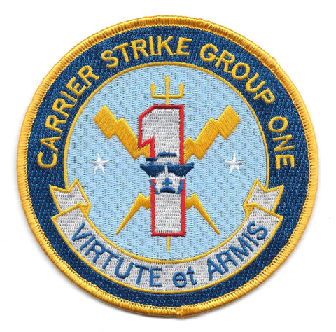 CSG 1 Carrier Strike Group One Military Patch VIRTUTE et ARMIS
