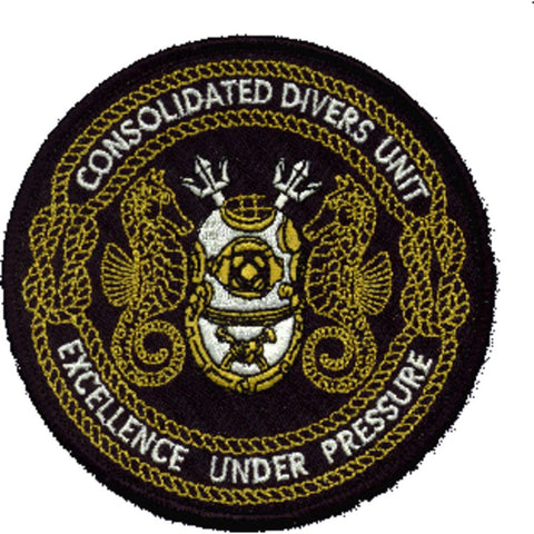 Consolidated Divers Unit Patch Excellence Under Pressure
